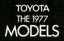 1977 TOYOTA BROCHURE -CELICA-COROLLA-CORONA-PICKUP-LAND CRUISER