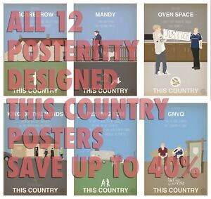 THIS COUNTRY Minimal Episode Posters Posteritty Sitcom Print Kerry Kurtan
