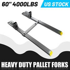 Heavy Duty Clamp On Pallet Fork 4000lbs 60 Loader Bucket Skidsteer Tractor