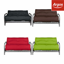 ColourMatch Mexico Futon Double Sofa Bed with Mattress - Choice of Colour :Argos
