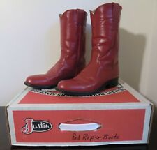 VIntage Justin Women's Red Ropers 3055 Size 6a Immaculate