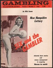 GAMBLING ILLUSTRATED Vintage Magazine SPORTS WAGERING woman on cover JUNE 1966