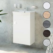 Waschbecken mit Unterschrank 2tlg Waschtisch Badmöbel Set 45 cm Badezimmer WC