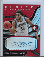 Karl-Anthony Towns Auto Autograph 2017-18 Panini Totally Certified /35