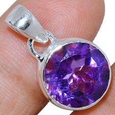 Faceted Amethyst 925 Sterling Silver Pendant Jewelry AMFP1595