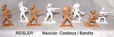 Reisler of Denmark  1/32 American wild west Mexican cowboys / bandits x 8   E