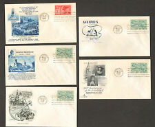 LOT of 5 RARE 1949 COMMEMORATIVE ENVELOPES FIRST DAY ISSUE 300 YEAR ANNAPOLIS MD