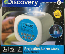 Discovery Kids Digital Alarm Clock Sound Machine Color Glowing Stars Projection