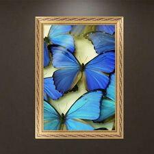DIY 5D Diamond Embroidery Blue Butterflies Painting Cross Stitch Home Wall Decor