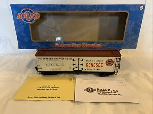 Atlas O #3001521-2 Genesee Brewing Co 40' Wood Beer Reefer Car NIB 3-Rail #102