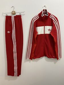 Adidas Originals Street Diver Adi-Icon Tracksuit Red White Size L