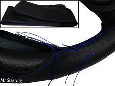 FOR TOYOTA PRADO 3 J120 BLACK LEATHER STEERING WHEEL COVER 02-09 BLUE STITCHING