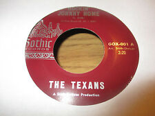 1961 THE TEXANS Rockin' Johnny Home Ole Reb 45 Gothic 001 Instumental Rock Mint