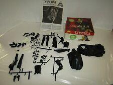 VINTAGE AURORA MODEL KIT 1972 MONSTER DRACULA GLOW DARK PARTS IN BOX 1/8 SCALE