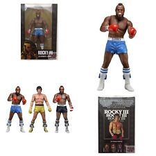 """CLUBBER LANG """"Blue Trunks"""" MR.T ROCKY III Neca 40th Anniversary 2017 7"""" FIGURE"""