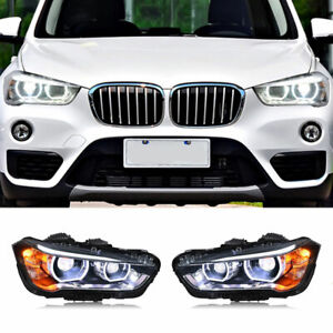 For BMW X1 LED Headlights Projector LED DRL 2016-2019 Replace OEM Halogen