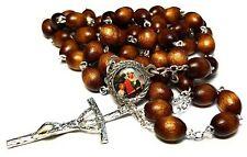 Saint ANNE relic brown rosary Ann Anna  Anne Elizabeth patron grandparents