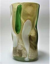 Vaso In Pasta Di Vetro Foglia Argento Murano Glasses Made in Italy da collezione