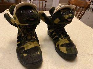 Adidas Jeremy Scott Camouflage Teddy Bear High Top Sneaker Q20917 Mens Sz 12