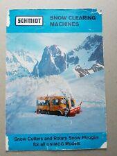 Schmidt Snow Clearing Machines 4 pg Leaflet Brochure 1966?