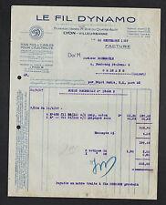 """LYON-VILLEURBANNE (69) USINE de FILS & CABLES ELECTRIQUES """"LE FIL DYNAMO"""" 1927"""