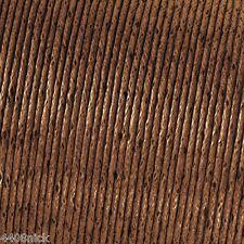 Mid Marrón Algodón Encerado cord/thong 1mm X 10 Metros