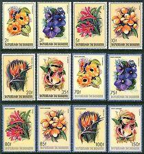 Burundi 633-8 C289-4 MNH Flowers Gloriosa Strelitzia Cassia Clivia x11513