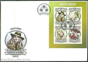 BURUNDI  2013  BRIGITTE BARDOT SHEET  FIRST DAY COVER