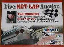 2013 Johnny O'Connell Corvette Corral Hot Lap 12 Hours of Sebring ALMS postcard