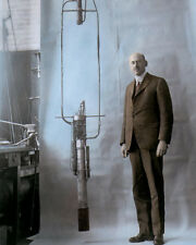"ROBERT H GODDARD PROFESSOR INVENTOR PHYSICIST 1925 8x10"" HAND COLOR TINTED PHOTO"