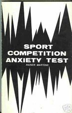 Sport Competition Anxiety Test SCAT 1982 Sports Medicine Monograph Martens Rare