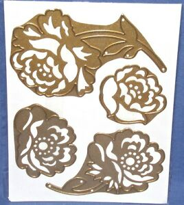 Anna Griffin 3D Flower Dies Roses 4 pieces 2 Designs Classic Anna Rose HTF New