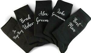 Wedding Socks Personalised , Socks For Groom, Gift For Best Man, Wedding Party