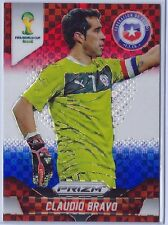 Claudio Bravo 2014 PRIZM WORLD CUP CHILE RED WHILE BLUE PLAID #41 BARCELONA