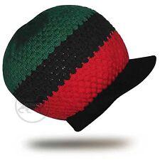 Afro Cap Hat Selassie Reggae Rasta Crown Marley Africa Marcus Garvey L to XL Fit