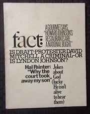 1967 FACT Magazine v.4 #2 VG 4.0 Draft Protestor David Mitchell LBJ Hal Painter