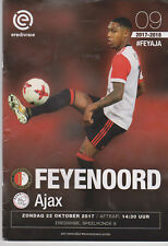 Programma / Programme Feyenoord Rotterdam v Ajax Amsterdam 22-10-2017