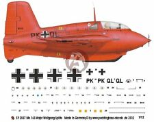 Peddinghaus 1/72 Me 163 B-0 V41 Komet Markings Wolfgang Spate EKdo 16 1944 2507