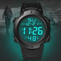 Sports Electronic Watch Adult Student Men's Big Screen LED Electronic Watch~