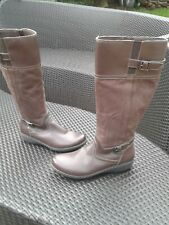 Hardly Worn Tan CLARKS Knee High Boots Size 5.5D