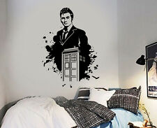 Dr Who And Tardis David Tennant Wall Sticker Icon Wall Decal Art Sticker