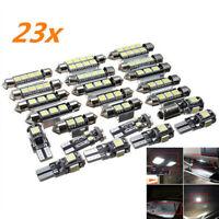 23x Car Interior Dome Weiße LED-Glühbirne Türspiegel Kofferraumbeleuchtung 12V N