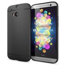 HTC One M8 M8S Hülle Handyhülle von NALIA, Slim Mesh Cover Schutzhülle - Schwarz