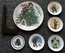 Emmett Kelly Jr 6 Collector Plates Four Seasons Lot Signed Christmas Plate