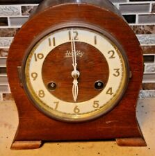 Vintage Welby German Mantel Clock Chimes Key Wind with Key Antique