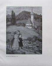 Landschaft Schutzengel von Matthäus Schiestl - Kunstblatt Bild Druck 1925