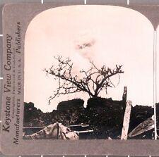 WWI Stereoview card:  Battle Damage at Verdun