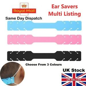 Ear Savers Protectors For Face Masks Strap Silicone Hooks Extenders UK