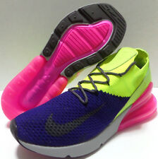 Nike Air Max 270 Flyknit Men's Size 9 Blue Pink Green Volt A01023-501 AO1023-501