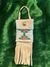 Small Beaded  Bag with CSA button  2020-1